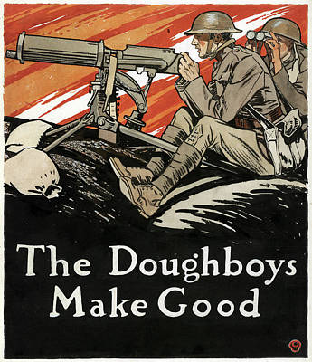Drawing - Penfield Doughboys, 1918 by Granger