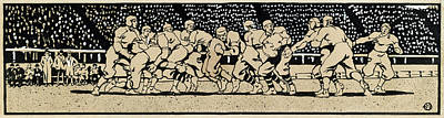 American Football Drawing - Penfield Football by Granger
