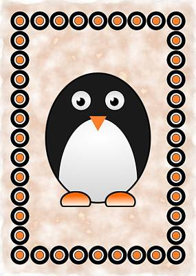 Penguin Mixed Media - Penguin - Birds - Art For Kids by Anastasiya Malakhova