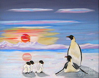 Painting - Penguin Family by Phyllis Kaltenbach