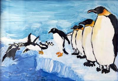 Penguins Art Print by Ethan Altshuler