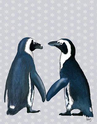 Penguins In Love Art Print by Kelly McLaughlan