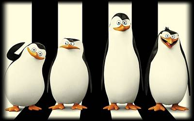 Penguin Drawing - Penguins Of Madagascar by Movie Poster Prints