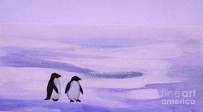Painting - Penguins by Patricia  Tierney
