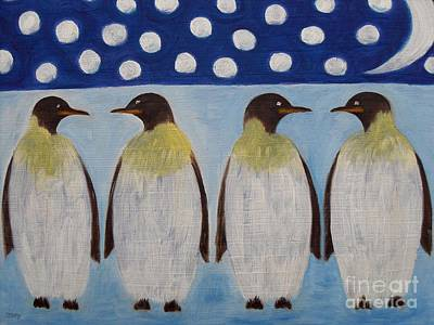 Penguins Art Print by Patrick J Murphy