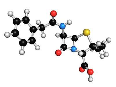 Molecule Photograph - Penicillin G Antibiotic Molecule by Molekuul