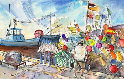 Peniscola Harbour 02 Art Print
