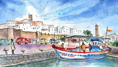 Peniscola Harbour 03 Art Print