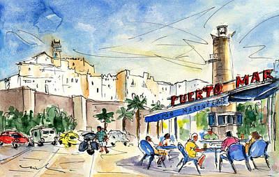 Peniscola Harbour 04 Art Print