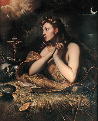 Christian Artwork Painting - Penitent Magdalane by Mountain Dreams