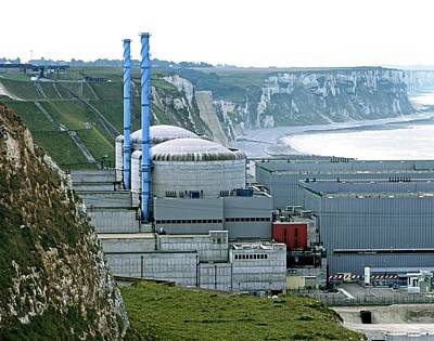 Chalk Cliffs Photograph - Penly Nuclear Power Station by Martin Bond
