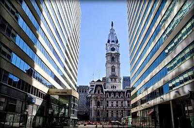 Penn Center And City Hall Philadelphia Art Print
