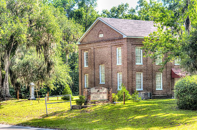 Country Photograph - Penn Center - Brick Baptist Church by Scott Hansen