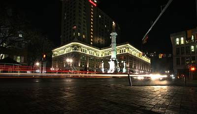 Photograph - Penn Square By Night by Dave Hall