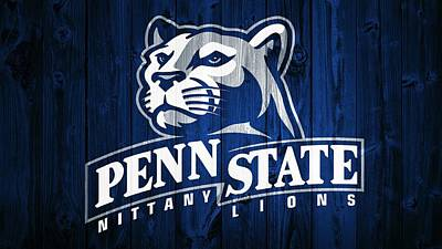 Penn State University Mixed Media - Penn State Barn Door by Dan Sproul