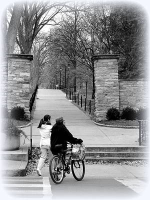 Grill Gate Photograph - Penn State University Transportation by Mary Beth Landis