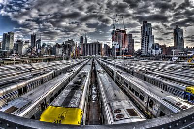 Penn Station Train Yard Art Print by Rafael Quirindongo
