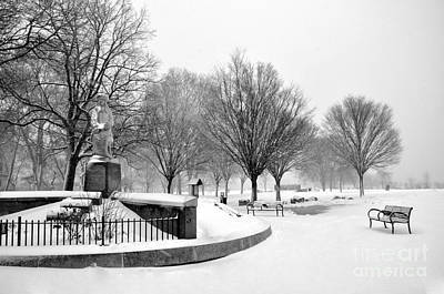 Photograph - Penn Treaty Park Entrance by Andrew Dinh