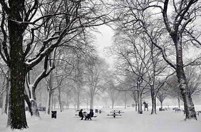 Photograph - Penn Treaty Park Picnic by Andrew Dinh