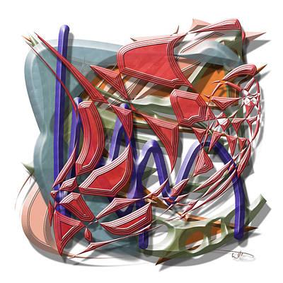 Abstract Digital Art - Penn by Warren Lynn