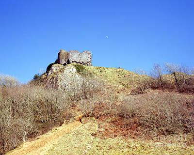 Photograph - Pennard Castle And Moon by Paul Cowan