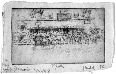 Art Print featuring the painting Pennell Cafe Barcadere, 1893 by Granger