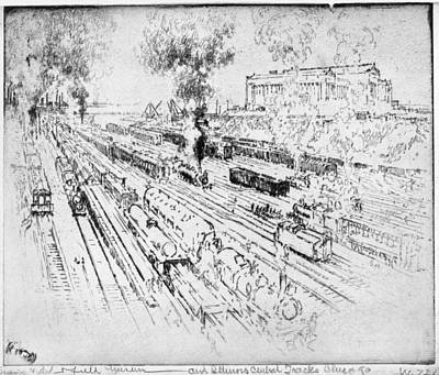 Illinois Central Railroad Painting - Pennell Central Tracks, 1919 by Granger