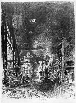 Munitions Painting - Pennell Furnaces, 1916 by Granger