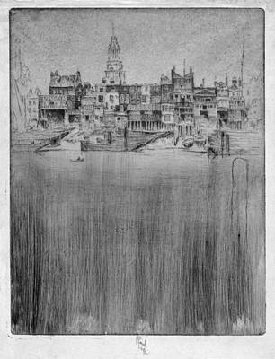 Painting - Pennell Limehouse, 1906 by Granger