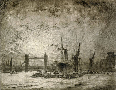 Moody Painting - Pennell London, 1905 by Granger