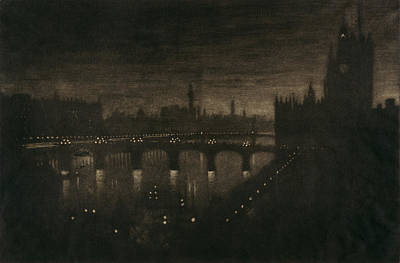 Moody Painting - Pennell London, 1909 by Granger
