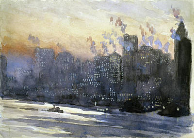 Painting - Pennell New York City, 1924 by Granger