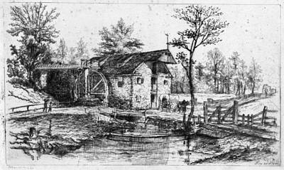 Gristmill Painting - Pennell Robert's Mill, 1880 by Granger