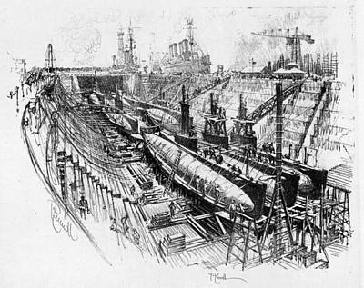 Painting - Pennell Submarines, 1917 by Granger