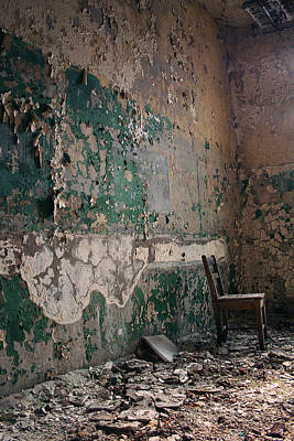 Pennhurst Green Room With Chair Print by W Scott Phillips