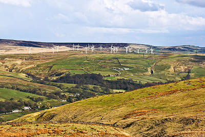 Photograph - Pennine Wind Farm Lancashire England by Jane McIlroy
