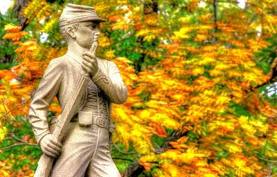 Pennsylvania At Gettysburg - The Rush To Battle 23rd Pa Volunteer Infantry Birneys Zouaves - Close B Art Print