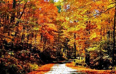 Moody Trees - Pennsylvania Autumn Road by Benjamin Yeager