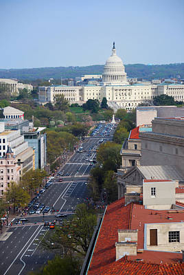 Photograph - Pennsylvania Avenue In Washington Dc by Songquan Deng