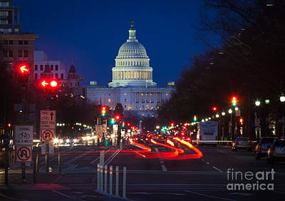 Federal Government Photograph - Pennsylvania Avenue by Inge Johnsson