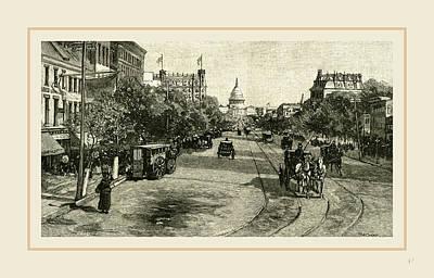 Pennsylvania Drawing - Pennsylvania Avenue, Washington, 19th Century by Liszt collection