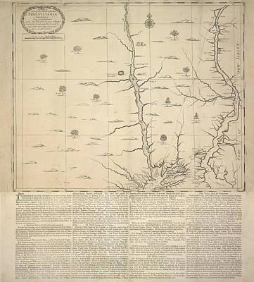 Cartography Photograph - Pennsylvania by British Library