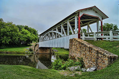 Photograph - Pennsylvania Covered Bridge by Kathy Churchman