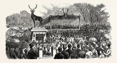 Pennsylvania Drawing - Pennsylvania Dedication Of The Elks Monument In Mount by American School