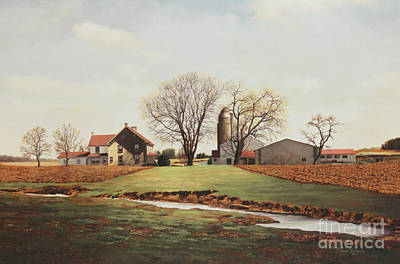 Farmhouse Painting - Pennsylvania Farm by Diana Voyajolu