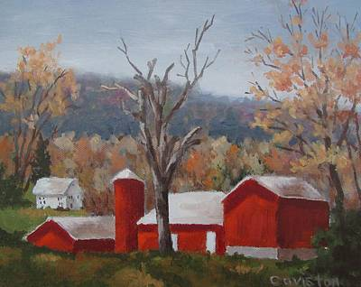 Painting - Pennsylvania Farm II by Tony Caviston