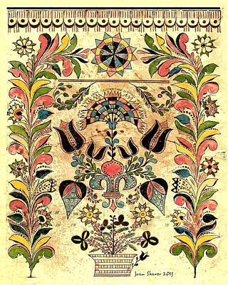 Pennsylvania German Fraktur Art Print