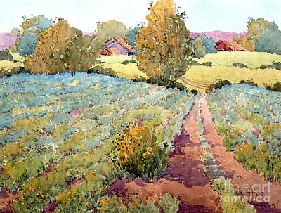 Pastoral Vineyards Painting - Pennsylvania Idyll by Joyce Hicks