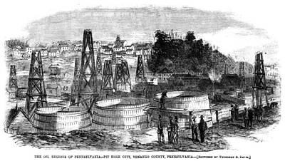 Pennsylvania Drawing - Pennsylvania Oil, C1865 by Granger