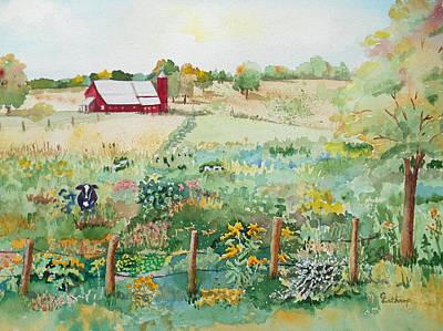 Pennsylvania Pasture Art Print by Christine Lathrop